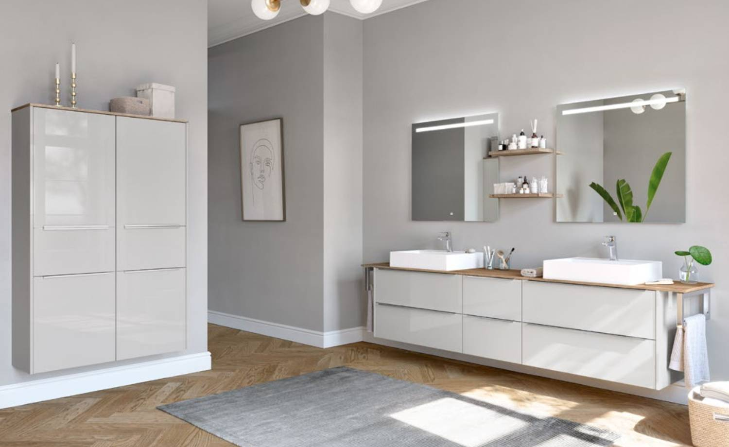 High Gloss And Country Style Bathrooms From Timbercraft